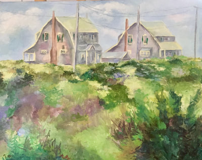 Where Anthony Stayed, oil, 16 x 20, Provincetown, Ma.